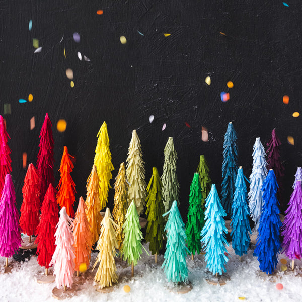 | PRE-ORDER | Crepe Paper Bottle Brush Trees Kit + Video Tutorial