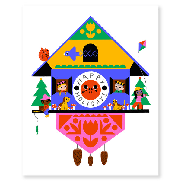 Cuckoo Holidays! Print by Michéle Brummer Everett