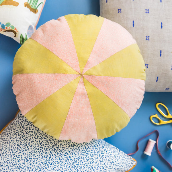 Circle Wheel Pillow, PDF Pattern