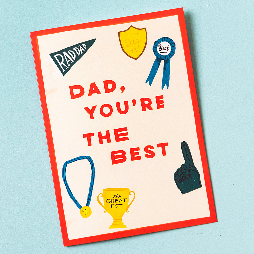 """Dad, You're The Best"" Father's Day Card, PDF Printable"