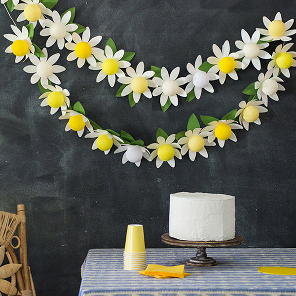 DIY Daisy String Lights, SVG & PDF Template