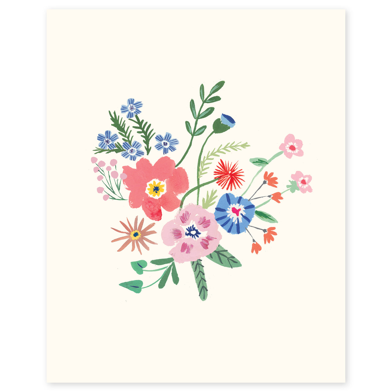 Wildflowers Print by Danielle Kroll