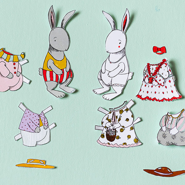 Easter Bunny Paper Dolls Pdf Printable The House That Lars Built
