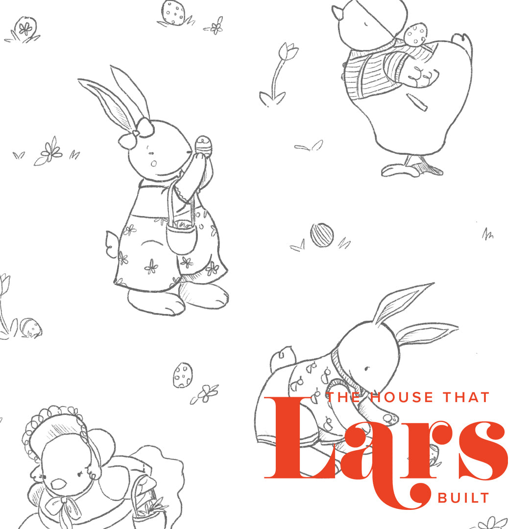 Easter Egg Hunt Coloring Page, PDF Printable