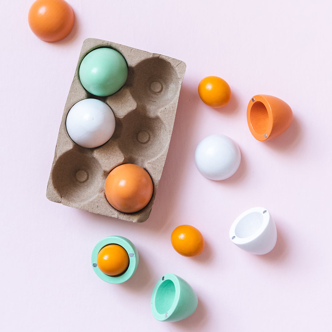 Toy Wooden Eggs for Children