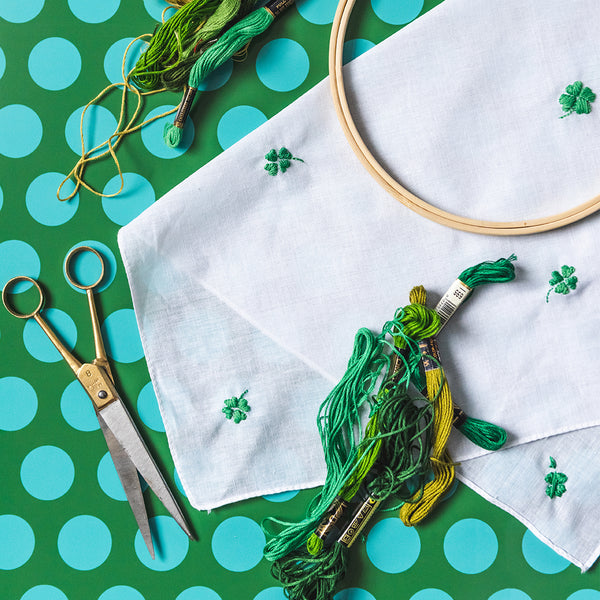 Embroidered Shamrock, PDF Template