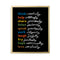 Simple Virtues Print (Black) by Erin Jang