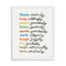 Simple Virtues Print (Ivory) by Erin Jang