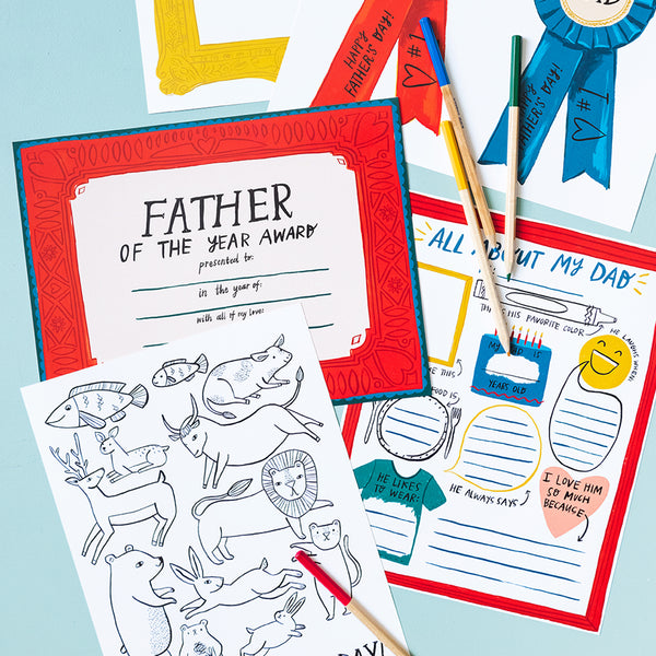 Father's Day Activity Pack, PDF Printables