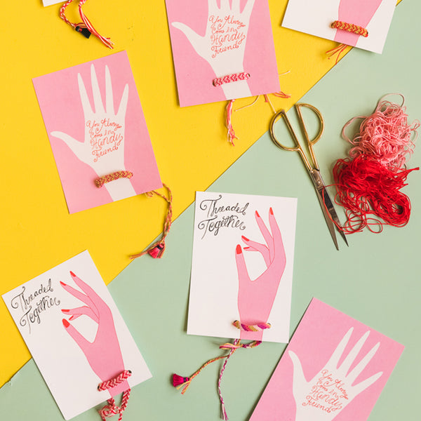 Friendship Bracelet Valentine Cards, PDF Printable