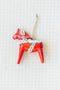 Glass Dala Horse Ornament