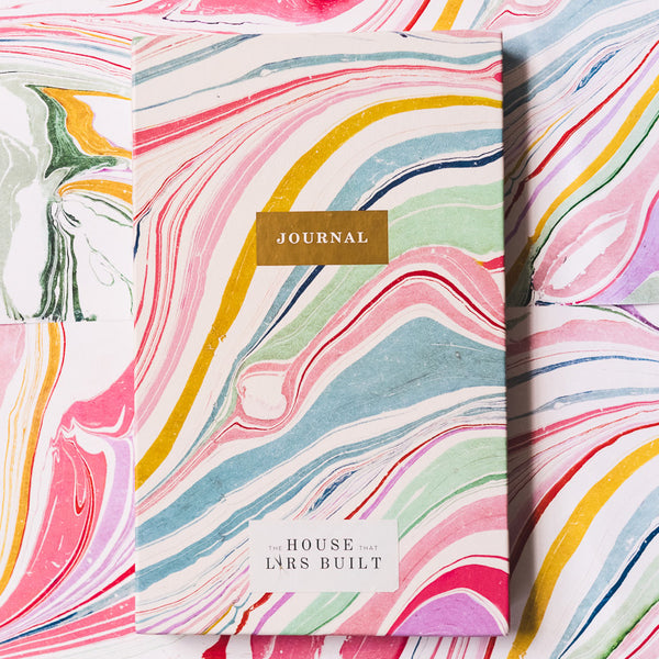 My Life in Color (hardcover guided journal) + Marble Blank Journal (hardcover), Set