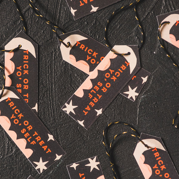 Halloween Party Tags, PDF Printable
