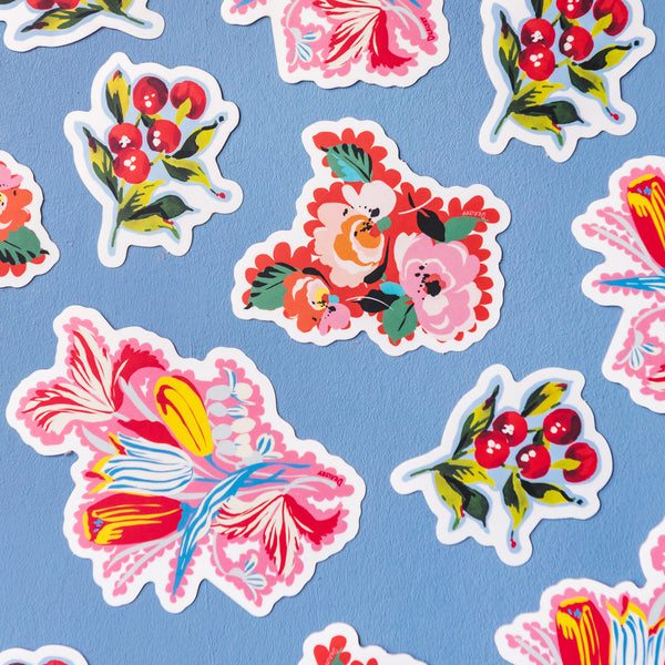 Flower Stickers (Set of 3)
