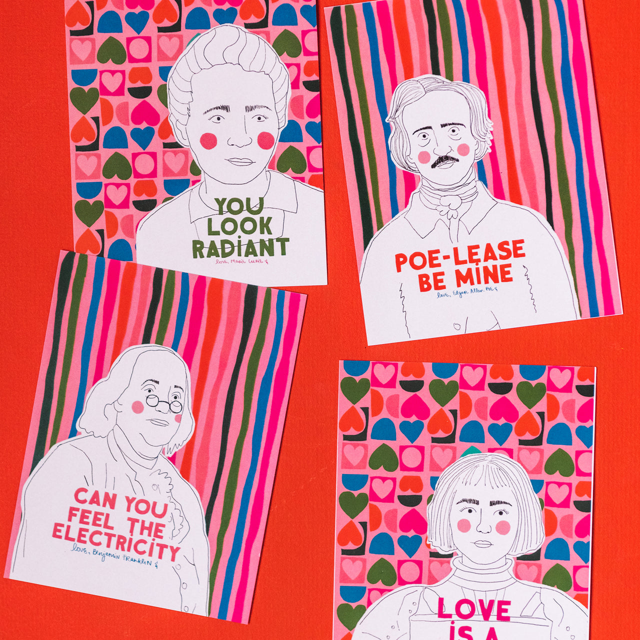 Historical Figure Valentines by Jessica Whittaker, PDF Printable