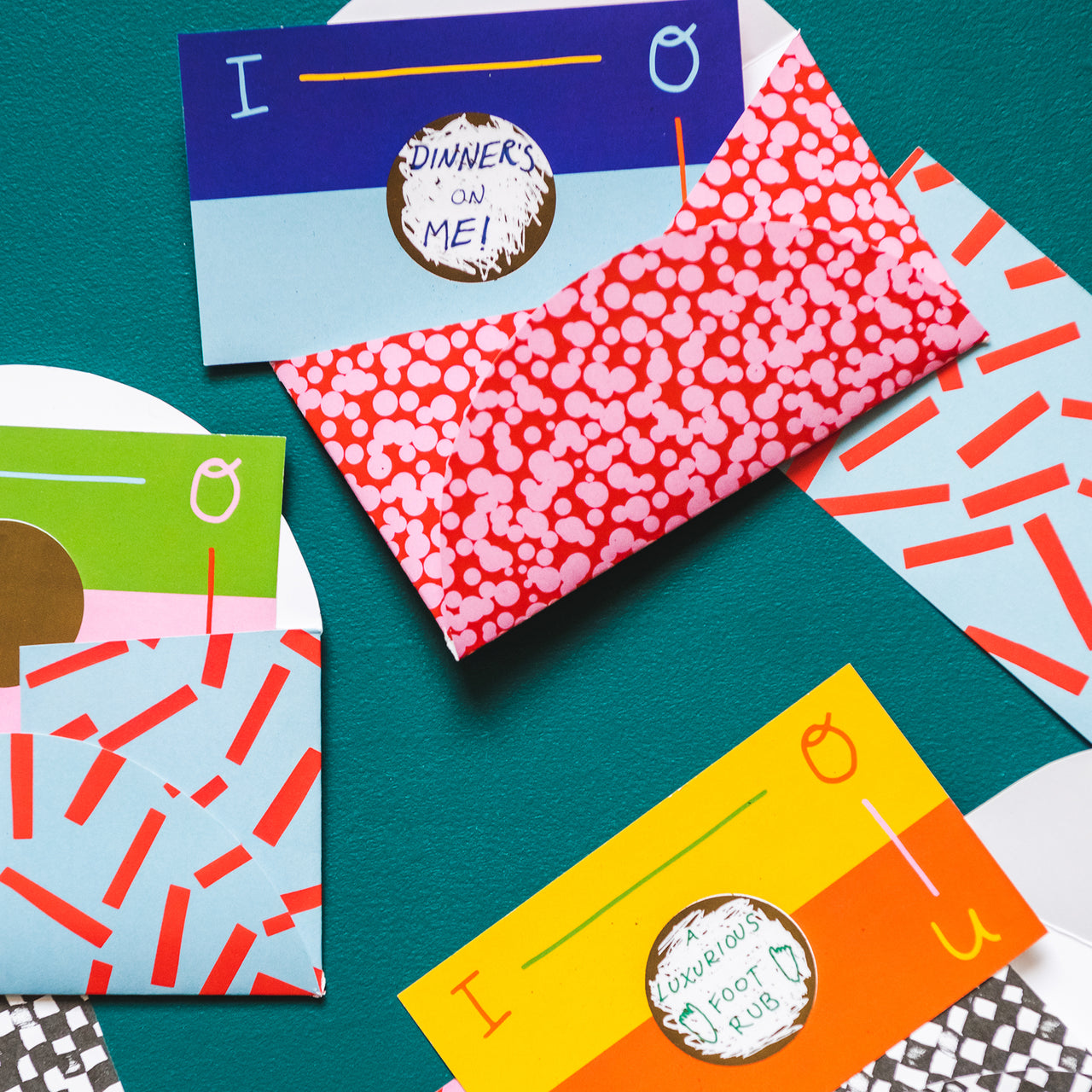 IOU Cards + Envelopes by Angie Stalker, PDF Printable