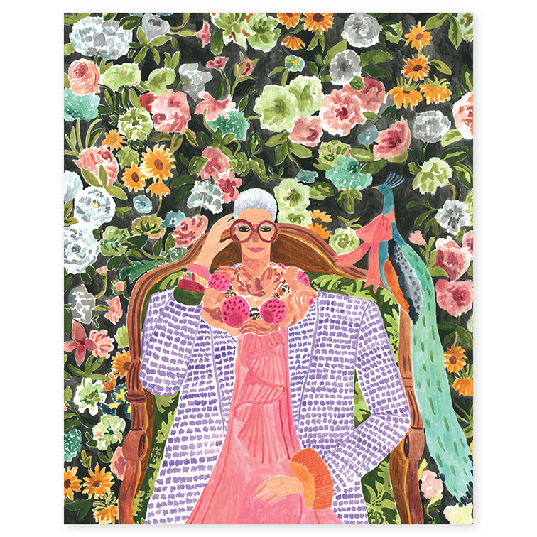 Iris Apfel Print by Rosie Harbottle