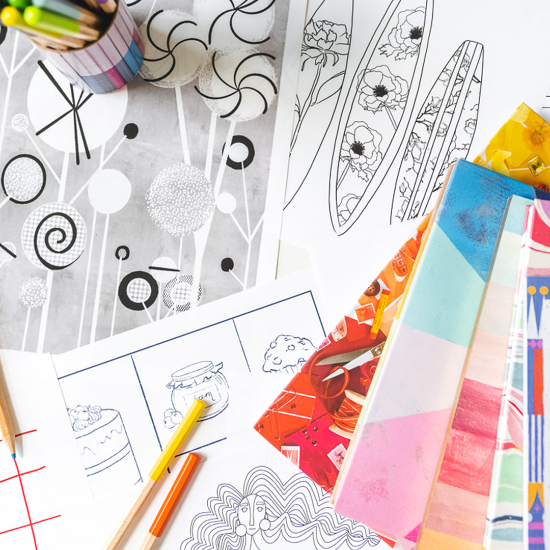 Print and Color: Monthly Coloring Page Subscription