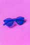 CHUNKS Blue Classic Round Sunglasses