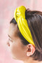 Bright Yellow Knotted Twist Headband