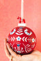 Folk Ball Ornament with Dala Top
