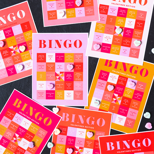 Valentine's Day Song Bingo, PDF Printable