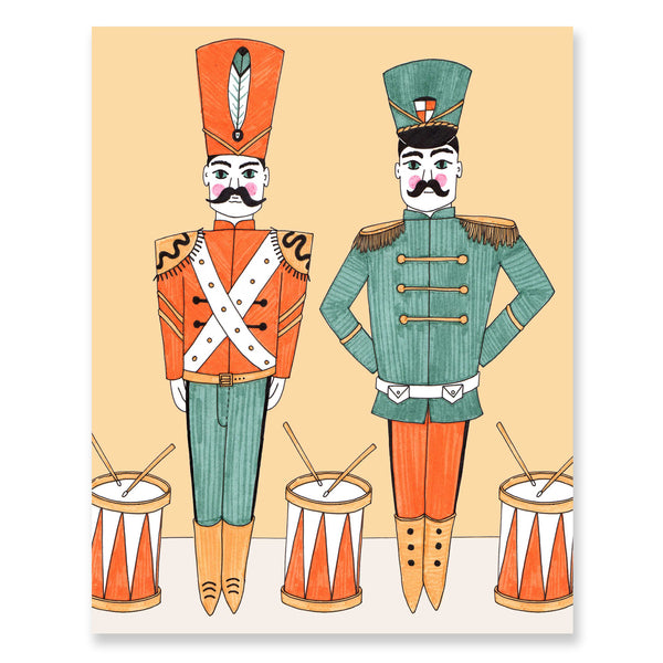 Pair of Drummers Print By Jacqueline Colley