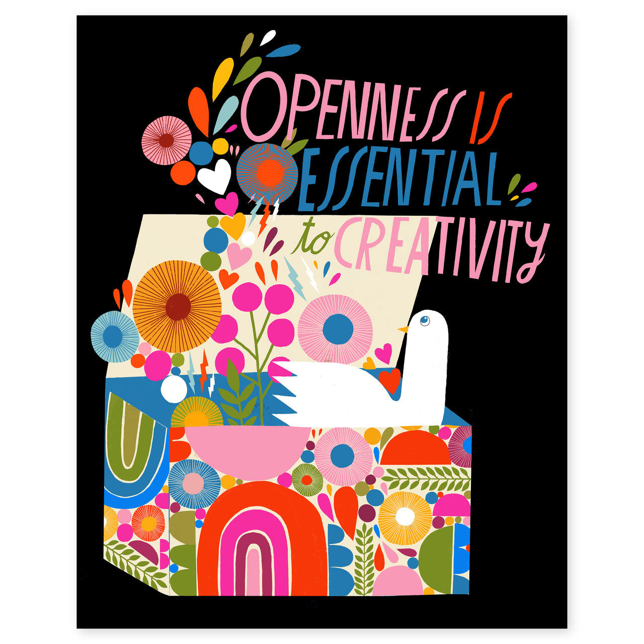 Openness Is Essential to Creativity Print by Lisa Congdon