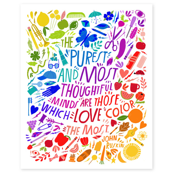 Craft the Rainbow Color Print by Lisa Congdon