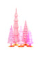 Assorted Glass Christmas Trees (Set of 5), DS