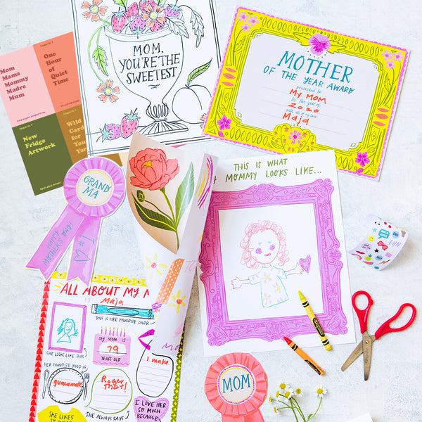 Mother's Day Activity Pack, PDF Printables