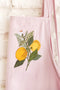 Pink Apron - Embroidered Lemon