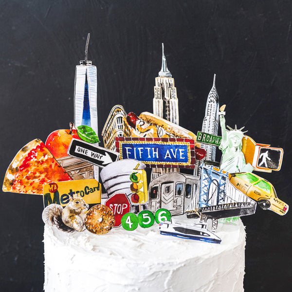 New York City Cake Topper, Free PDF Printable