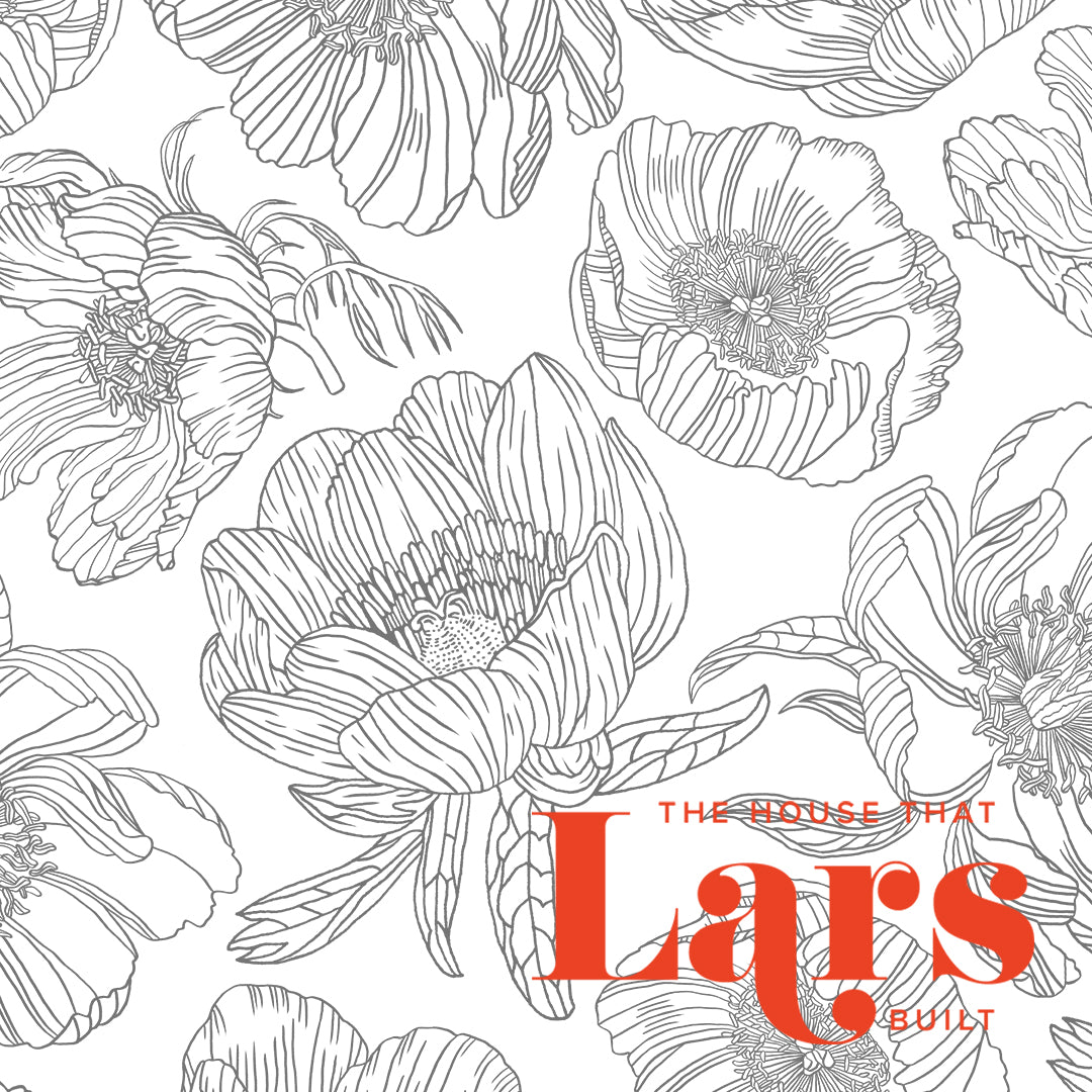Peony Flower Coloring Page Pdf Printable The House That Lars Built
