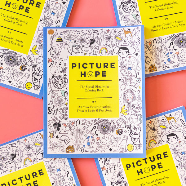 Picture Hope: The Social Distancing Coloring Book, PHYSICAL COPY of book