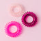 Pink Ombre Spiral Hair Ties (Set of 3)