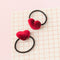 Kids Velvet Heart Hair Ties (Set of 2)