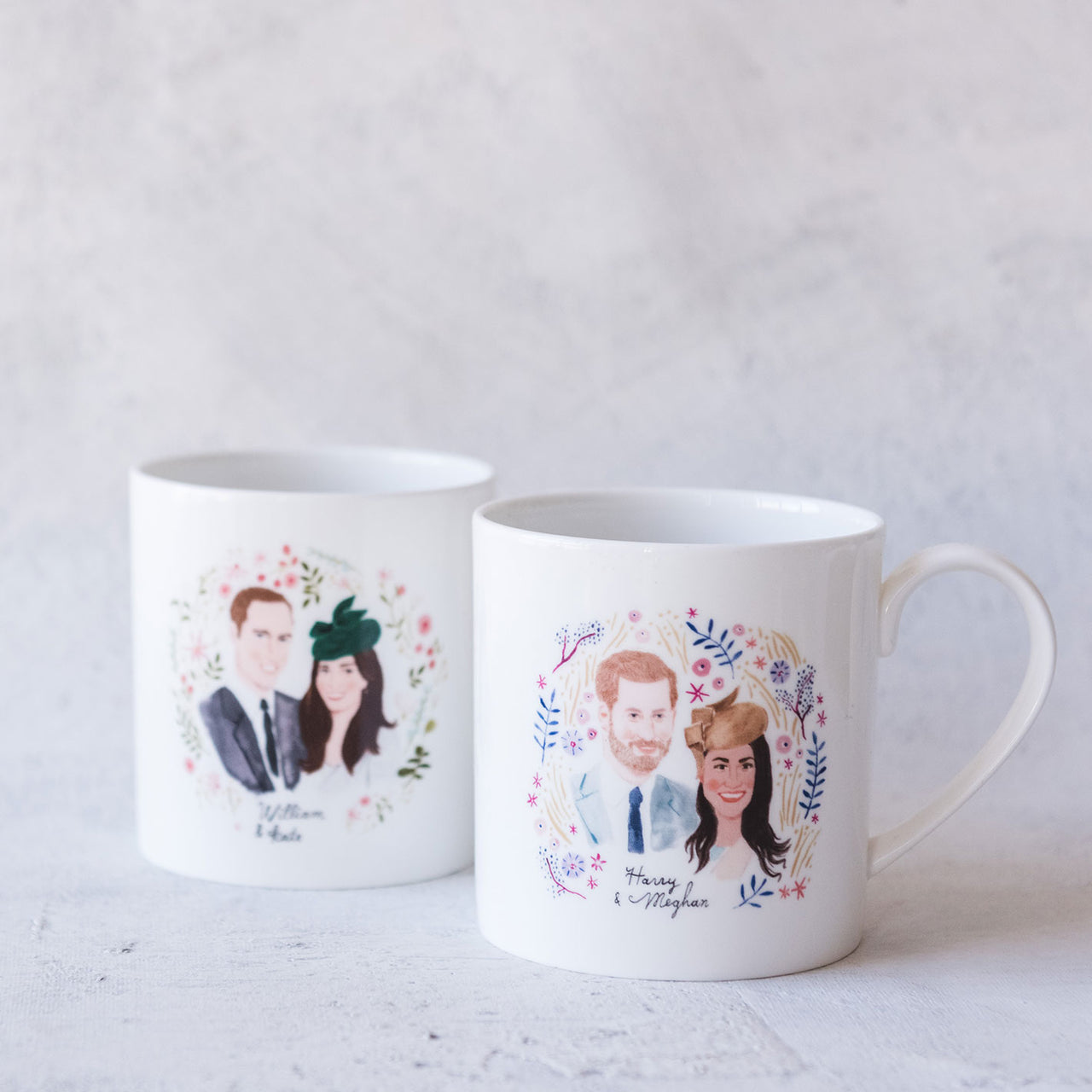 Harry & Meghan and William & Kate, Royal Wedding Commemorative Mug Set
