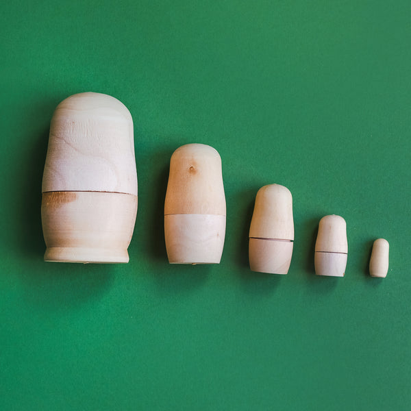 Wooden Bare Russian Nesting Doll