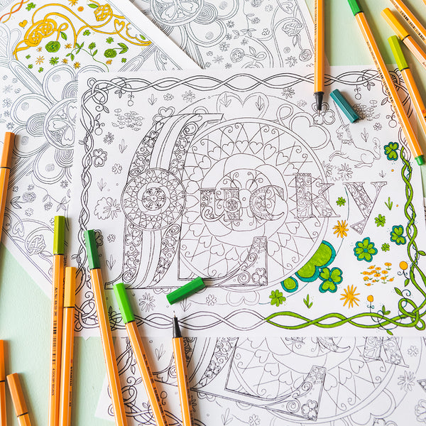 St. Patrick's Day Coloring Pages, PDF Printable
