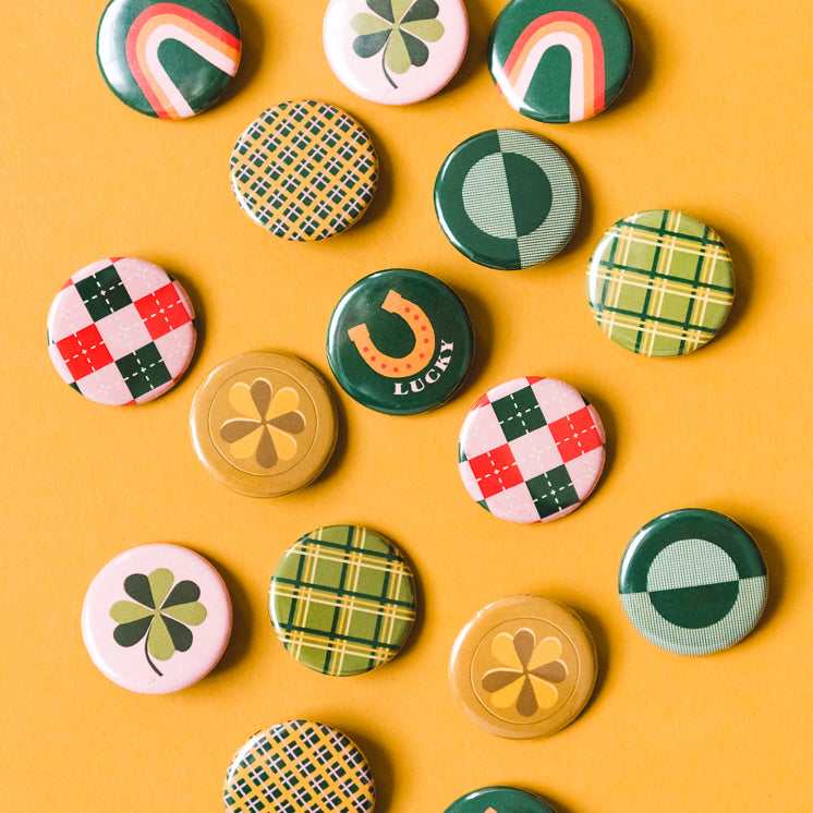 St Patrick's Day Assorted Buttons
