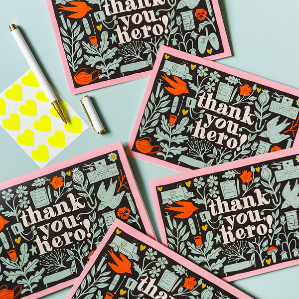 """Thank You, Hero!"" Card, PDF Printable"