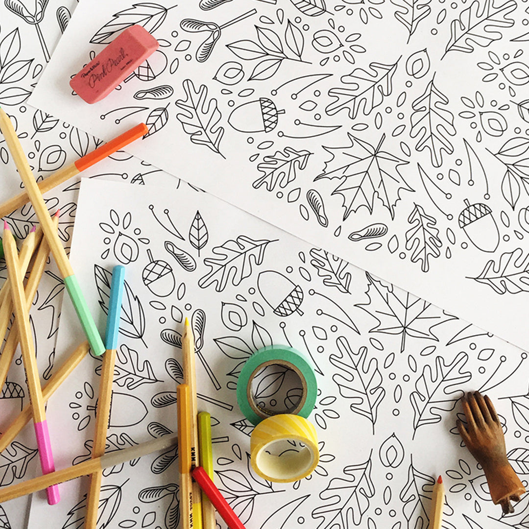 Thanksgiving Coloring Placemats, PDF Printable