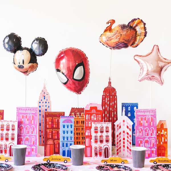 Macy's Thanksgiving Day Parade Skyscraper Tablescape, PDF Printables