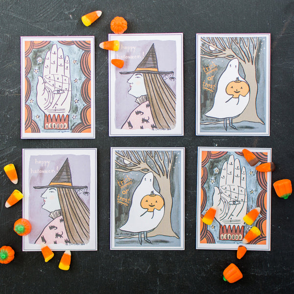 Trick or Treat Halloween Cards, PDF Printable
