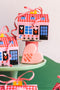 Foldable Valentine Cookie Box House by Julie Marabelle of Famille Summerbelle, PDF Printable