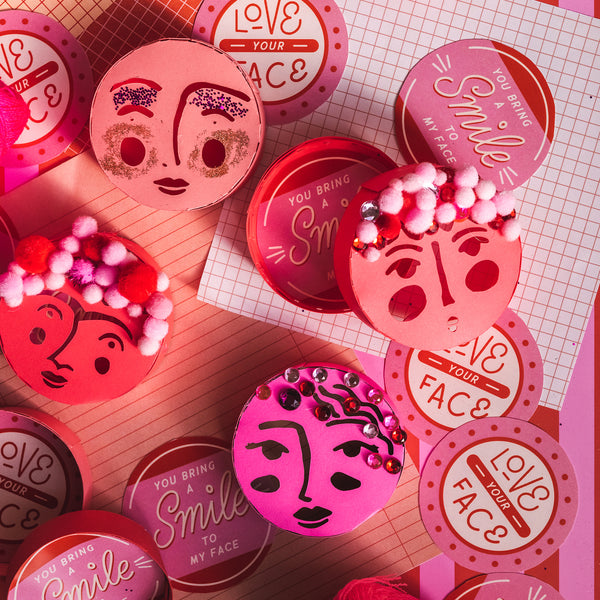 Valentine Face Boxes, SVG & PDF Template
