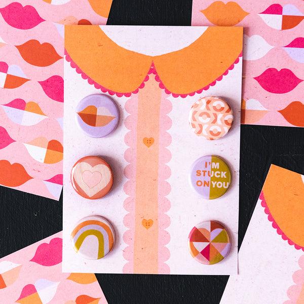 Valentine's Day Assorted Buttons
