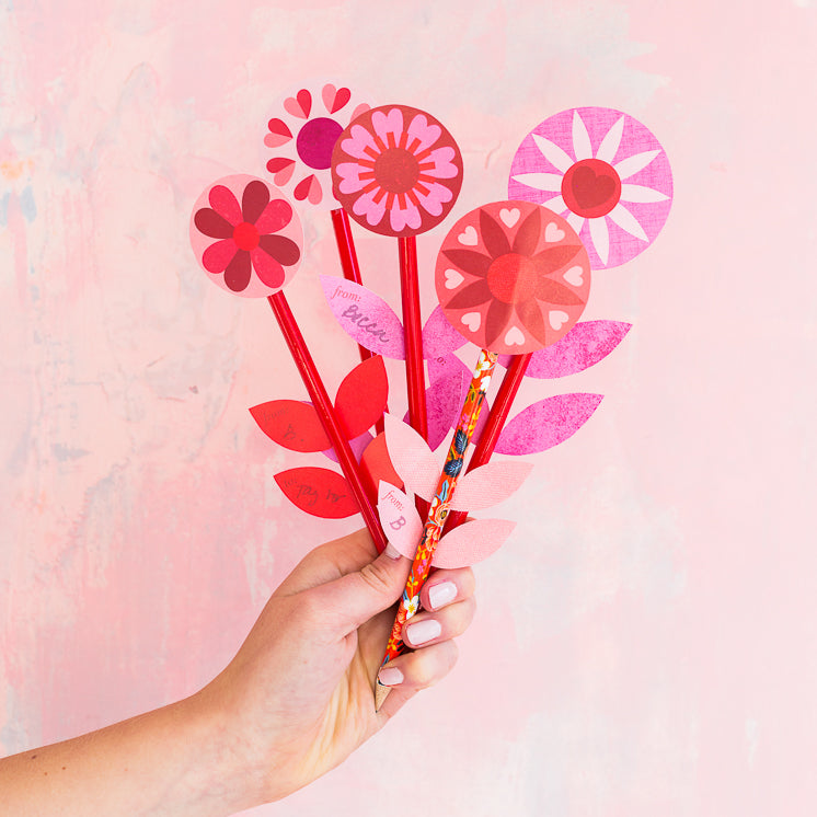 Flower Pencil Valentine Kit
