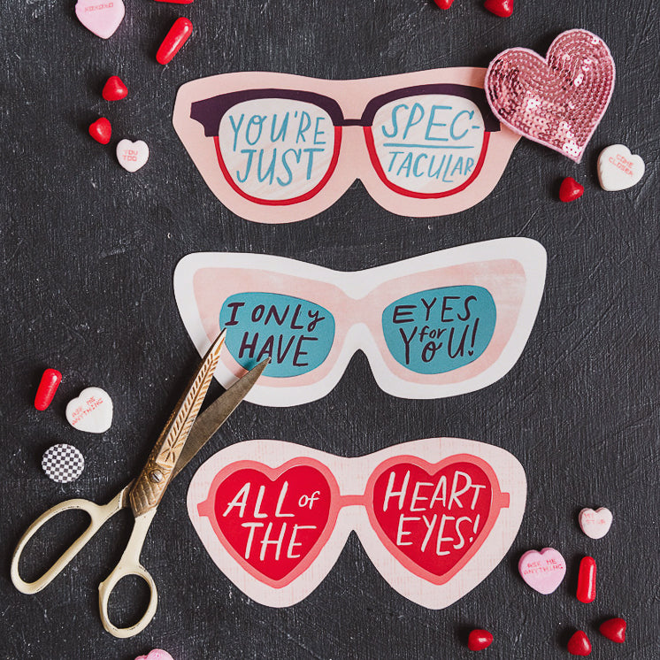 Valentine Sunglasses, PDF Printable
